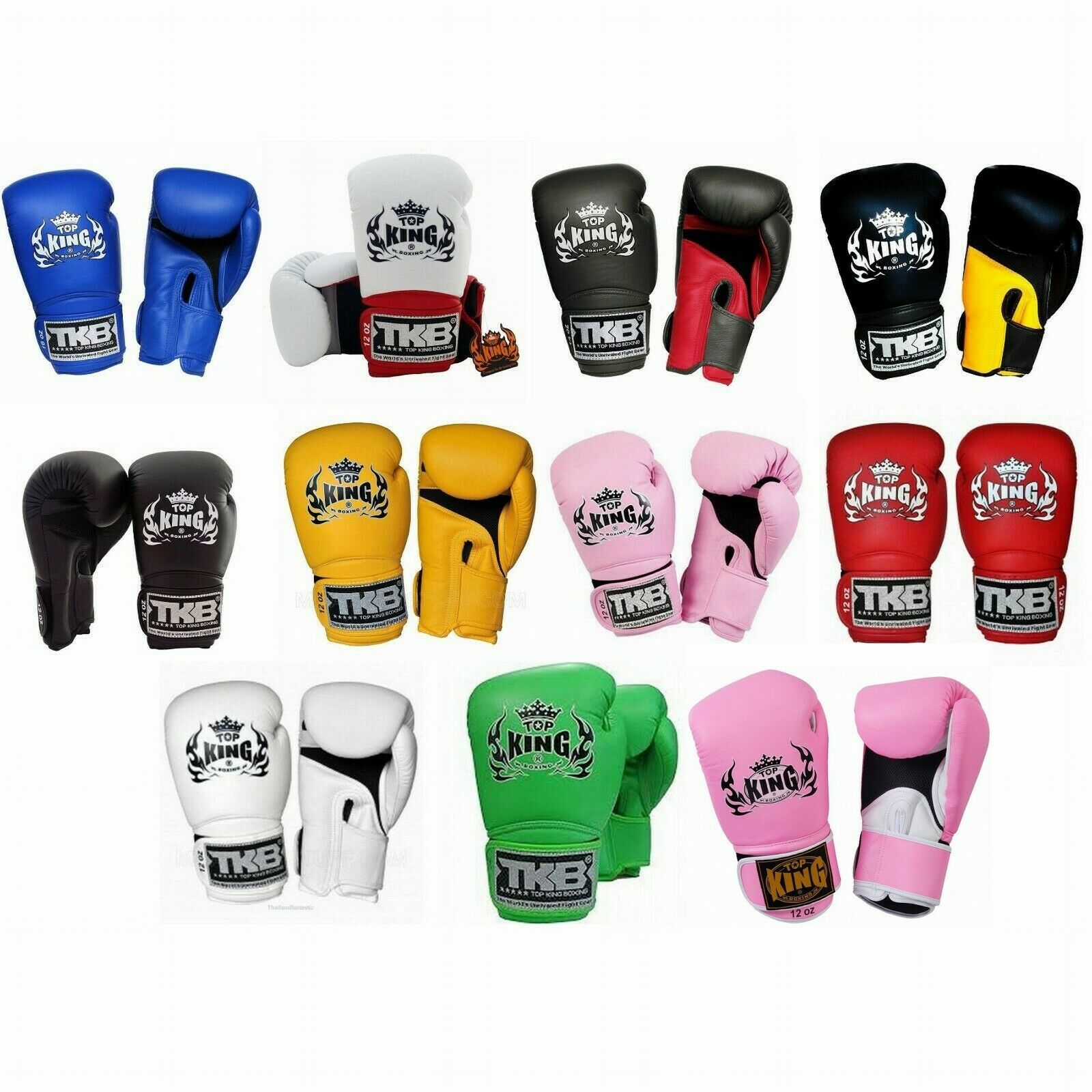 NWT TOP KING TKBGSA Super Star Air Velcro Martial Arts Muay Thai Boxhandschuhe