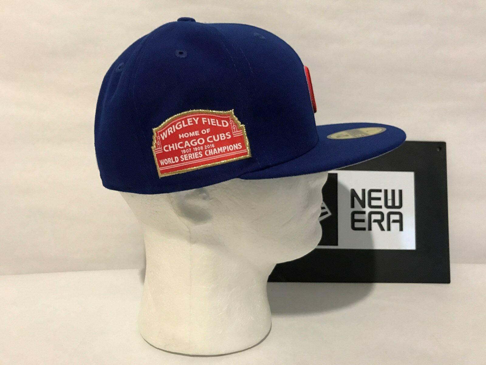 Chicago Cubs Wrigley New Era 59FIFTY Custom Wrigley Cubs Field Marquee Fitted New With Tags 59894b