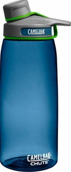 NEW CAMELBAK CHUTE BOTTLE 1L WATER DRINKS BPA FREE TUMBLER LEAK PROOF blueeE GRASS
