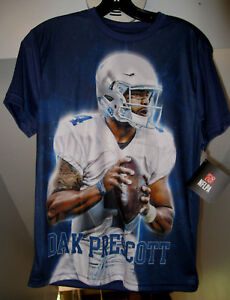 DAK PRESCOTT NFL DALLAS COWBOYS YOUTH COLOR PHOTO NAVY BLUE NFLPA T ... 4a8e51071