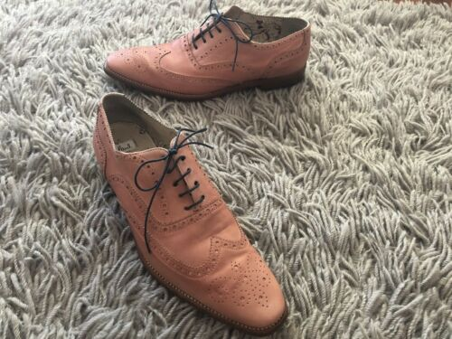 """""""paul smith"""" Salmon Pink Soft Leather Wing Tip Lac"""