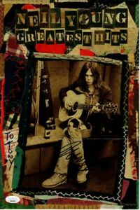 Neil-Young-Signed-Autographed-9-5X14-Paper-Poster-Greatest-Hits-JSA-BB40965