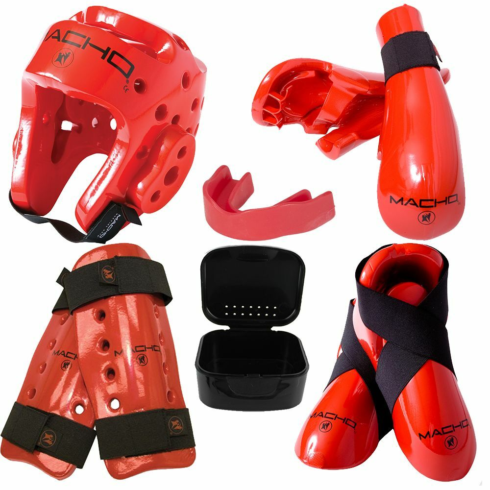 Dyna Sparring Gear Set  Red