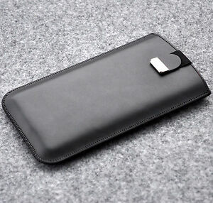 Case for HTC phone real cowhide leather cover sleeve pouch with magnetic flap