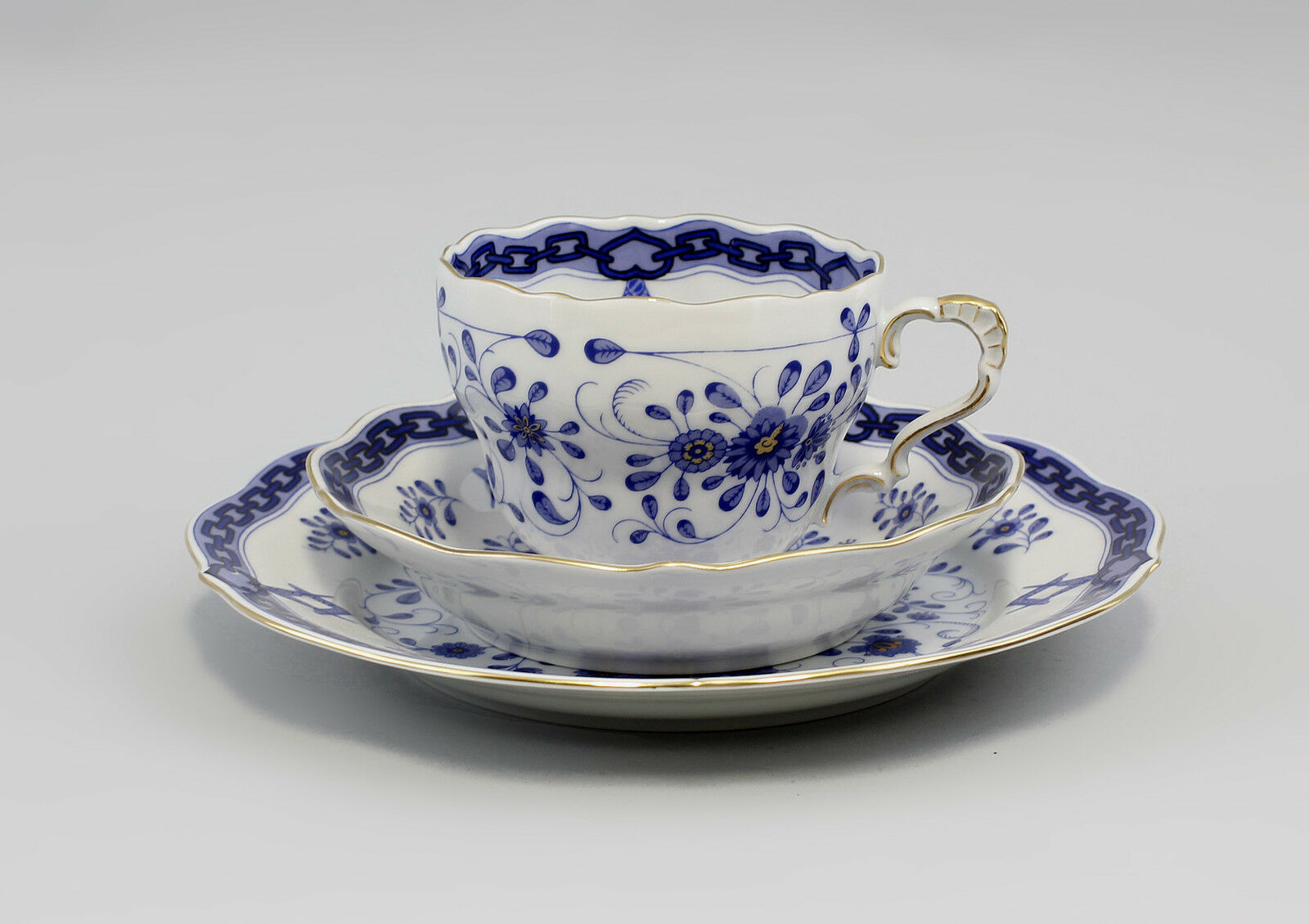 Porcelaine Couvert freimaurerbleu Lindner Bavière 9986332