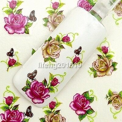 Beauty water transfer nail sticker decals nail art decoration tool Flower Design