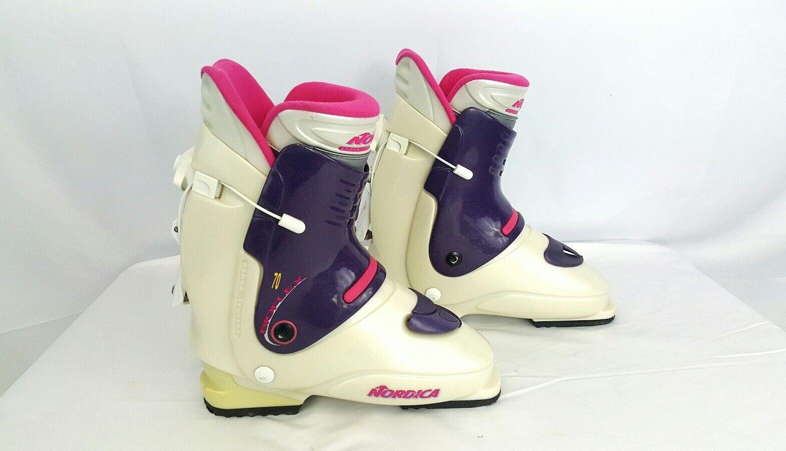 NORDICA BIOFLEX 70  Downhill Ski Boots, Women's 26.0 260 265 mm White Purple