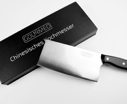GOURMEO Küchenmesser Chinesisches Kochmesser rostfreier Edelstahl Hackmesser