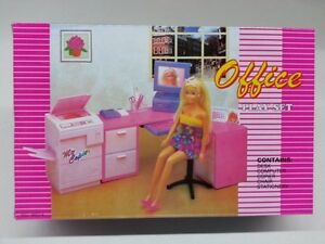 Gloria Barbie Doll House Furniture 96014 Office Play Set