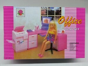 barbie doll house furniture. Image Is Loading Gloria-Barbie-Doll-House-Furniture-96014-Office-Play- Barbie Doll House Furniture