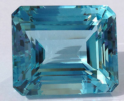 GIA CERTIFIED 48.53CT AQUAMARINE  -BLUE, NOT ENCHANCED, OCTAGON-FAST SHIPPING!!!