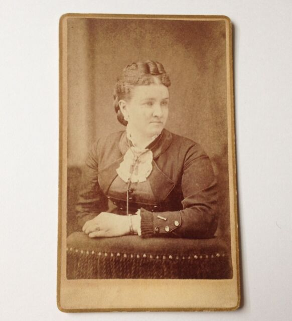 CDV Photo Antique Photo Susquehanna PA Harding Woman Vintage Photograph