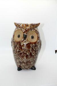 Large-brown-Ceramic-Owl-Vase-Planter-home-decor