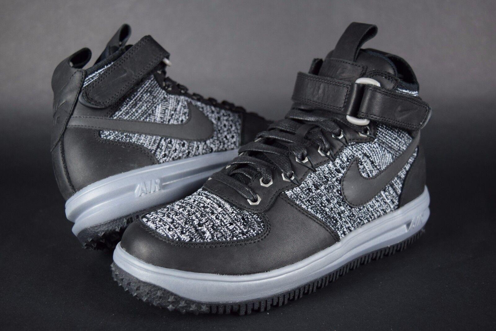 New Womens Nike LF1 Flyknit Workboot Air Lunar Force 1 860558 001 sz 7 black
