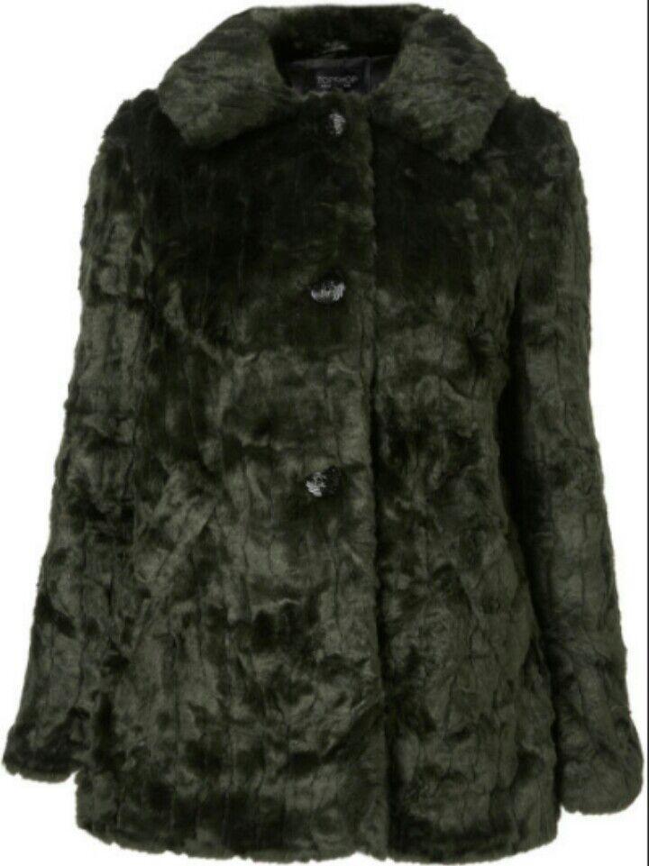 Topshop textured faux fur coats