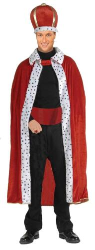 Details about  /King Robe Crown Royal Medieval Fancy Dress Halloween Costume Accessory 2 COLORS
