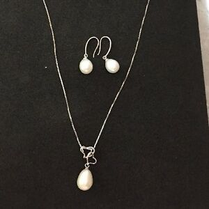 18-034-Freshwater-Pearl-Necklace-amp-Earring-Set-925-Sterling-Silver