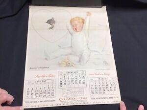 Vintage-1937-Chesapeake-and-Ohio-Railway-Railroad-Calendar-Chessie-Cat