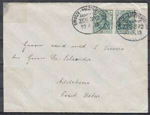 DR-Mi-Nr-85-MeF-Brief-mit-BP-Bahnpost-Einbeck-Salzderhelden-Uslar-1915