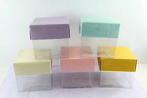 """3""""x3"""", 4""""x4"""" Cube Favor Gift Box,Wedding Baby Shower Party Candy Soap Candle"""