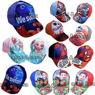 Childrens Carattere Cappello Da Baseball Caps Disney Paw Patrol Dory Avengers Congelato-mostra Il Titolo Originale Sapore Fragrante (In)
