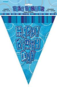 GLITZ-BLUE-FLAG-BANNER-HAPPY-BIRTHDAY-3-6M-12-039-BIRTHDAY-PARTY-PLASTIC-BANNER