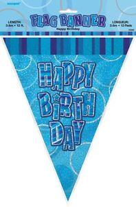 GLITZ-BLUE-FLAG-BANNER-HAPPY-BIRTHDAY-3-6M-12-039-BIRTHDAY-PARTY-PLASTIC-BANNER