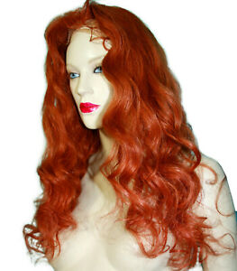 Full-Lace-Thin-Skin-Wig-Silk-Top-Human-Hair-Indian-Remi-Remy-Auburn-Red-Long