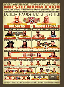 Wrestlemania-33-Roman-Reigns-amp-The-Undertaker-Wrestling-Art-Print-8x10-Inch-WWF