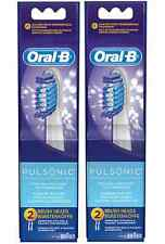 4 ORAL-B PULSONIC Replacement Toothbrush Brush Heads NO Precision Tip Braun NEW