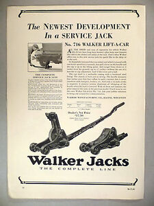 Walker Car Jacks Print Ad 1929 Lift A Car Jack Ebay