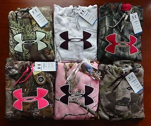 Under Armour Women's Camo Big Logo Hoodie NWT Hunting Stitched