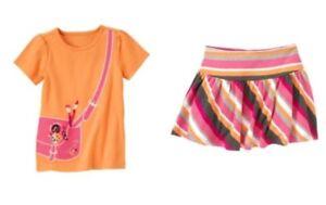 Gymboree-Panda-Academy-Art-Satchel-Tee-amp-Striped-Banded-Waist-Skirt-Outfit-5-NWT