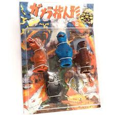 Rare Godzilla Gamera Tokusatsu Mini Figure Finger Puppet Set Jaiger Zigra