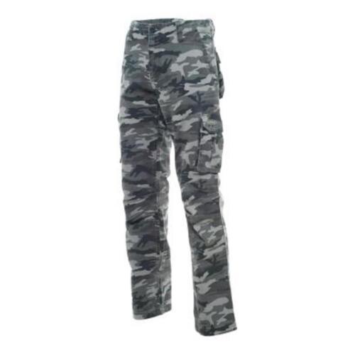 In Cotone Grigio Pantalone 6 Mimetico Camouflage Tasche nero TCwBnqd6