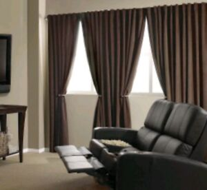 Image Is Loading Absolute Zero BRADLEY Home Theater Blackout Curtain Panel