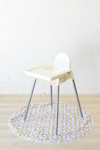 MR THEO 120cm baby toddler kids messy splat mat - feeding high chair waterproof