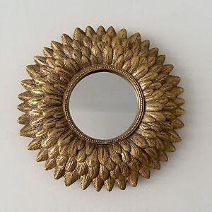 Joli-petit-miroir-forme-soleil-style-vintage-Diam-21-cm-annees-50-60