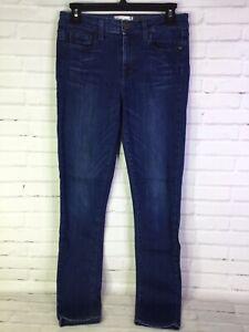 PAIGE Womens Size 27 Mid Rise Skinny Slim Blue Dark Wash Denim Jeans