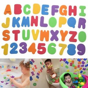 US-Stock-36pcs-Baby-Kids-Foam-Letters-Numbers-Floating-Bathroom-Bath-tub-Toys