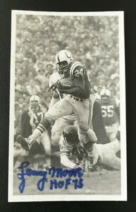 LENNY MOORE NFL HOF Indianapolis Colts Auto Autographed Signed 3x5 Index Card 1