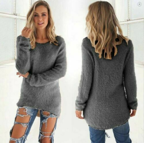 Women/'s Long Sleeve Knitted Sweater Jumper Knitwear Casual Cardigan Outwear Coat