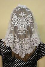White Spanish style veils and mantilla Catholic Church lace latin (no.1) Large