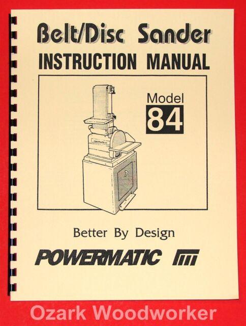"JET//Asian JSG-6 6/"" x 48/"" Belt 12/"" Disc Sander Instructions /& Parts Manual 0875"