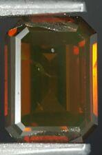 Red Cognac Diamond Emerald Cut Loose Sparkling Best Price Real Image 0.52 Carat