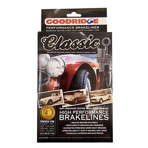 Goodridge-Noir-Classique-Flexible-de-freins-Set-Pour-Triumph-TR4-ABK1015CB
