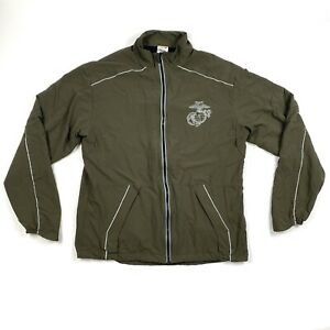 New-Balance-Mens-Medium-Long-Marines-Olive-Green-Windbreaker-Running-Jacket