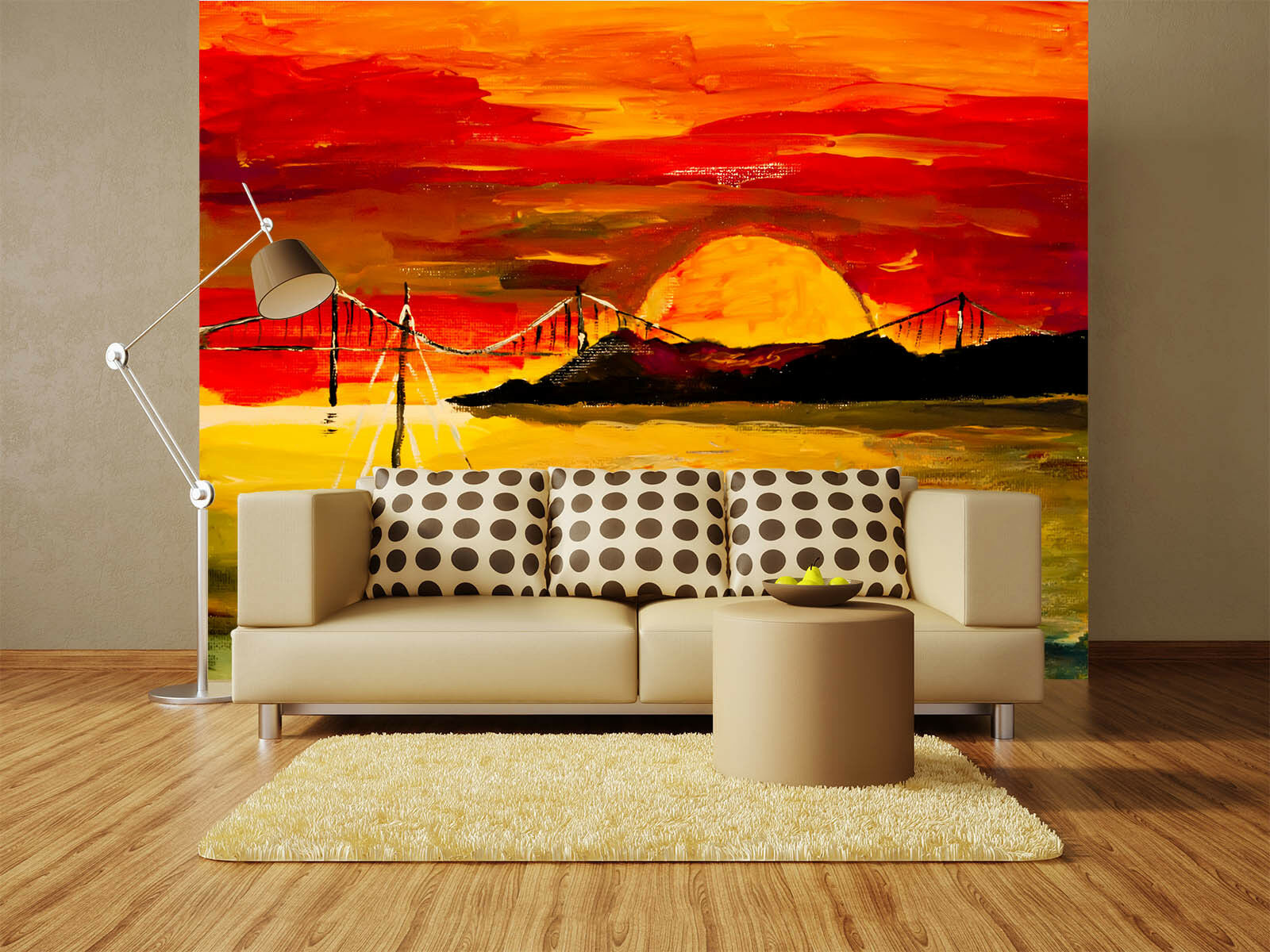 3D Sunset Sunlight Lake 06 Wall Paper Wall Print Decal Wall AJ WALLPAPER CA