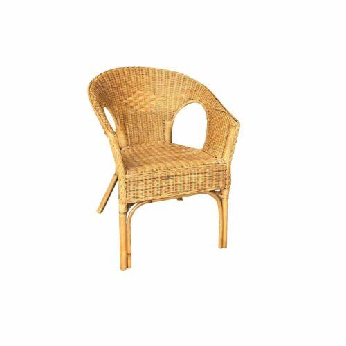 Armchair wicker KELEK Rush with cushion to sitting
