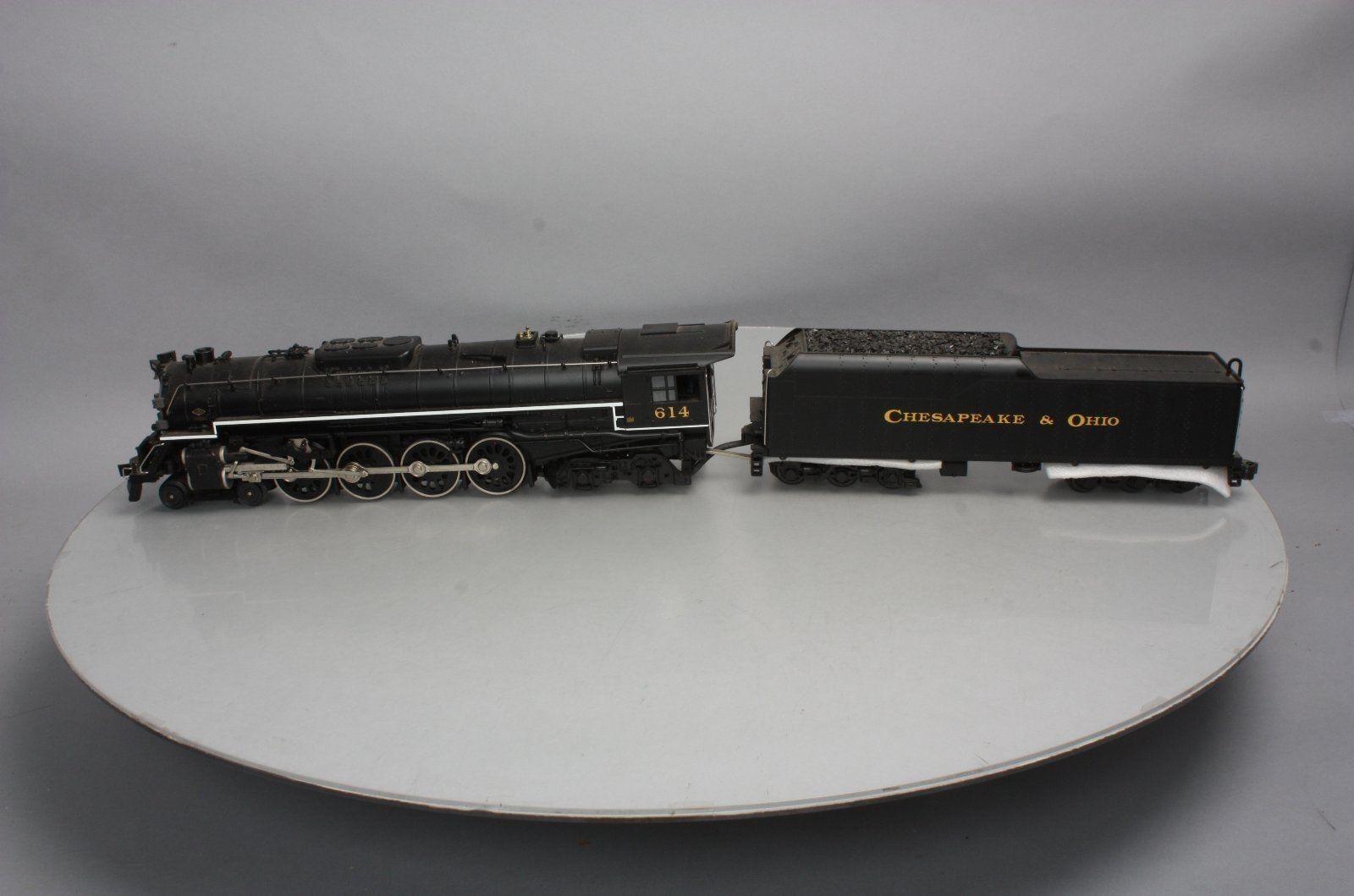 MTH 20-3035-1 C&O 4-8-4 verdebrier Ssquadra Locomotive  & Tender w Prossoo-suono  614  spedizione e scambi gratuiti.